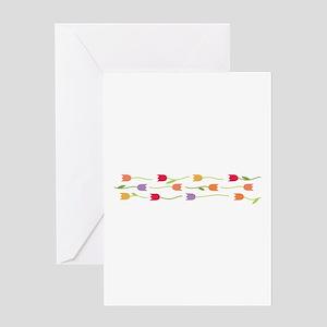 Tulip Border Greeting Cards