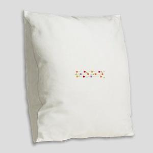 Tulip Border Burlap Throw Pillow
