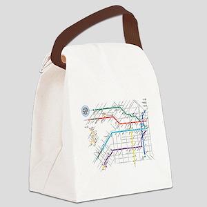 Buenos Aries Underground Subterra Canvas Lunch Bag