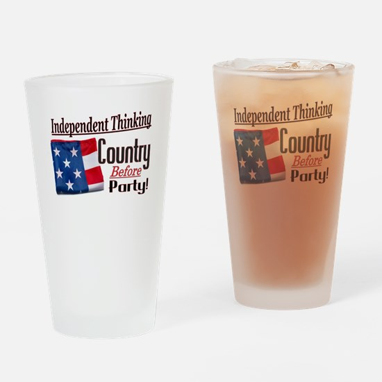 Independent Thinking Drinking Glass