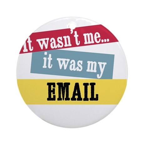 Email Ornament (Round)
