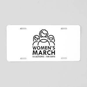 Women's March Aluminum License Plate