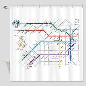Buenos Aries Underground Subterrane Shower Curtain