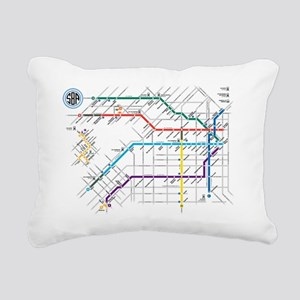 Buenos Aries Underground Rectangular Canvas Pillow