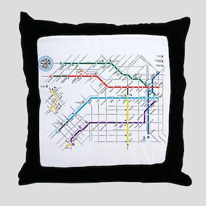 Buenos Aries Underground Subterraneo Throw Pillow