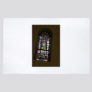 church stained glass window in San Jos 4' x 6' Rug