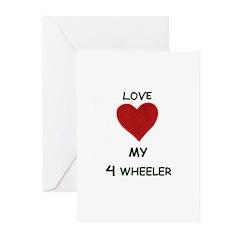 LOVE MY 4 WHEELER Greeting Cards (Pk of 10)