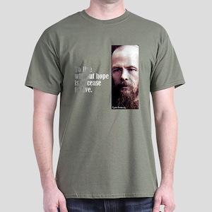"Dostoevsky ""Without Hope"" Dark T-Shirt"