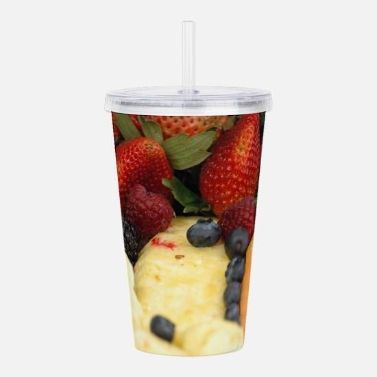 Mixed Fruit Acrylic Double-wall Tumbler