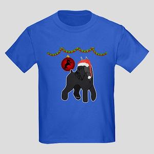 giant schnauzer Christmas Kids Dark T-Shirt