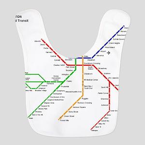 Boston Rapid Transit Map Subway Metro Undergro Bib