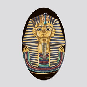 Tutankhamon's Mask 20x12 Oval Wall Decal