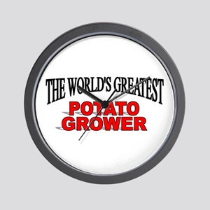 """The World's Greatest Potato Grower"" Wall Clock"