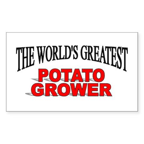 """The World's Greatest Potato Grower"" Sticker (Rect"