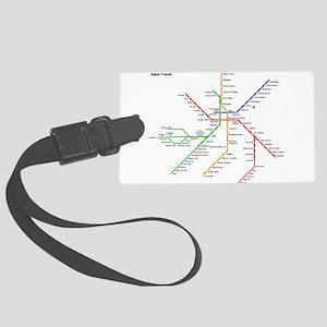 Boston Rapid Transit Map Subway Large Luggage Tag