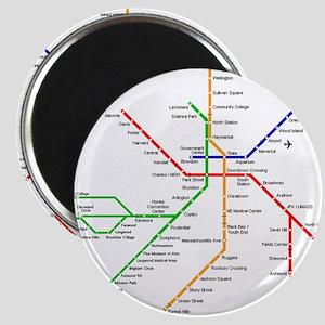 Boston Rapid Transit Map Subway Metro Unde Magnets
