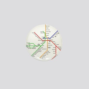 Boston Rapid Transit Map Subway Metro Mini Button