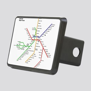 Boston Rapid Transit Map S Rectangular Hitch Cover
