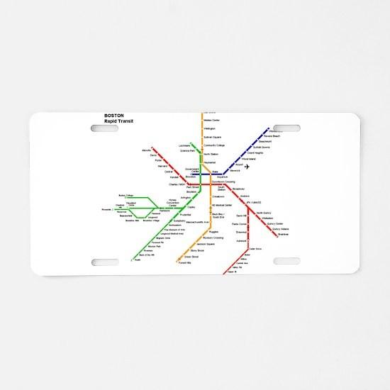 Boston Rapid Transit Map Su Aluminum License Plate