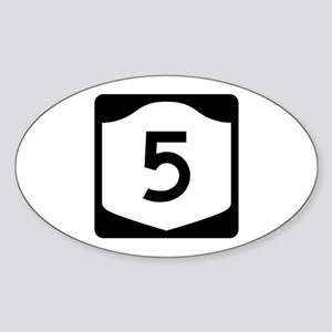 State Route 5, New York Sticker (Oval)