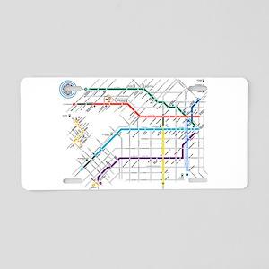 Buenos Aries Underground Su Aluminum License Plate