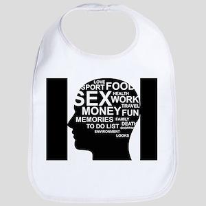 What's on man mind Brain Thoughts Sex Money Th Bib