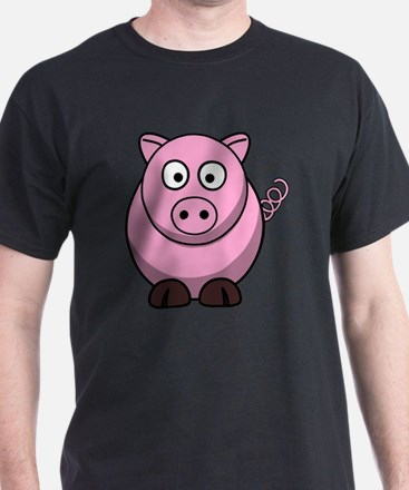 Cool Happy pink pig T-Shirt