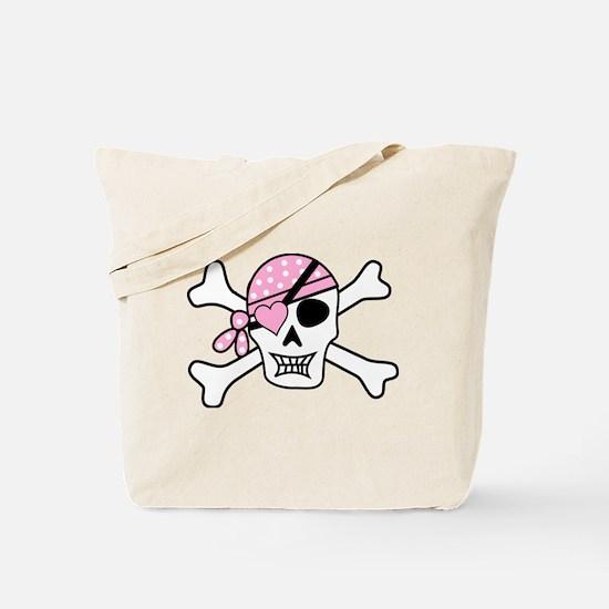 Funny Girly skull Tote Bag
