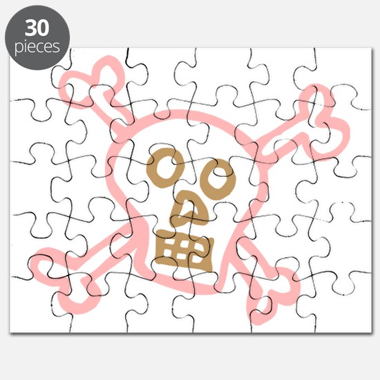 Cool Girly skull Puzzle