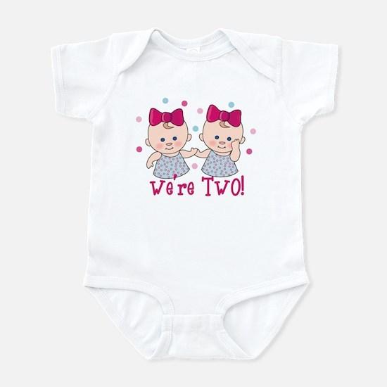 We're Two Girls Infant Bodysuit