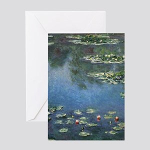 Waterlilies by Claude Monet Greeting Cards