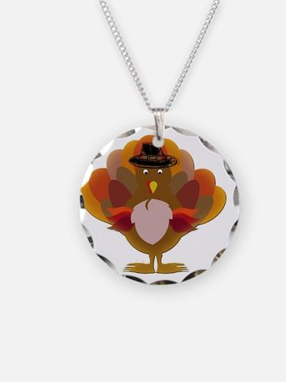 Cute Thanksgiving Turkey Necklace Circle Charm