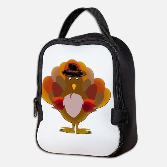 Cute Thanksgiving Turkey Neoprene Lunch Bag