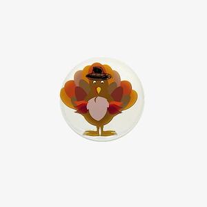 Cute Thanksgiving Turkey Mini Button