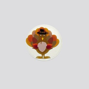 Cute Thanksgiving Turkey Mini Button
