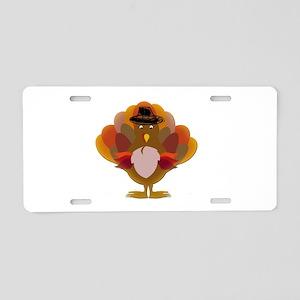 Cute Thanksgiving Turkey Aluminum License Plate