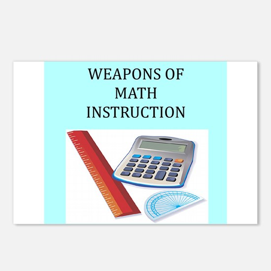 math joke t-shirts gifts Postcards (Package of 8)