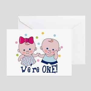 We're One Boy & Girl Greeting Card