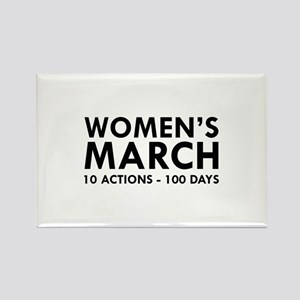 Women's March Rectangle Magnet