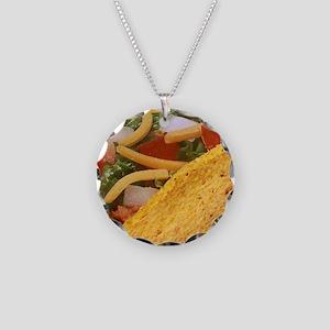Hard Shell Taco Necklace Circle Charm