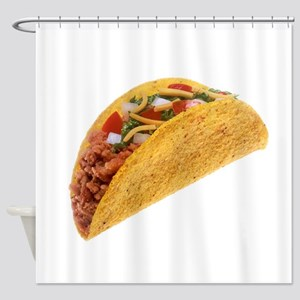 Hard Shell Taco Shower Curtain