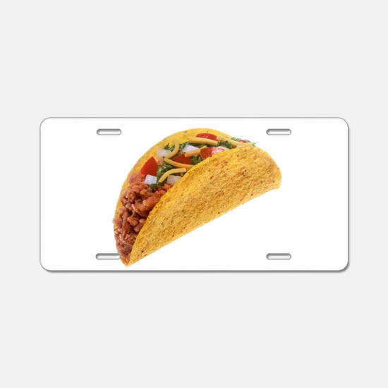 Hard Shell Taco Aluminum License Plate