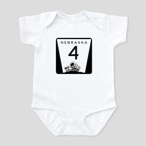 Highway 4, Nebraska Infant Bodysuit