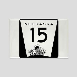 Highway 15, Nebraska Rectangle Magnet