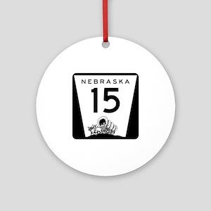 Highway 15, Nebraska Ornament (Round)