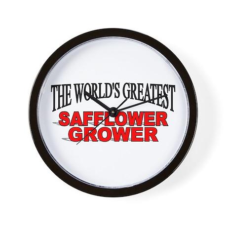 """""""The World's Greatest Safflower Grower"""" Wall Clock"""