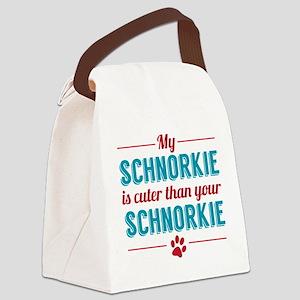 Cuter Schnorkie Canvas Lunch Bag