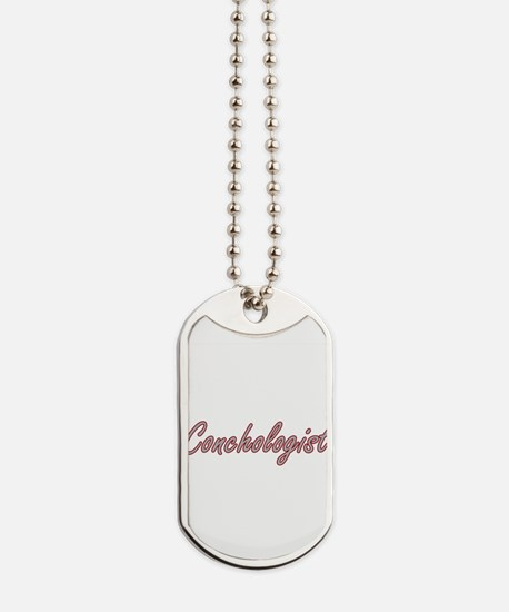 Conchologist Artistic Job Design Dog Tags