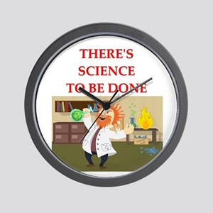 scientist humor on gifts and Wall Clock