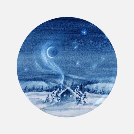 "little cabin frosty night 3.5"" Button"
